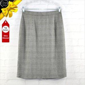BROOKS BROTHERS Vintage Houndstooth Plaid Skirt